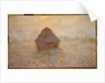 Haystacks, Sun in the Mist by Claude Monet
