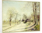 The Road from Veneux to Moret on a Spring Day, 1886 by Alfred Sisley