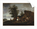 Travellers refreshing themselves at a riverside tavern, 1664 by Isack van Ostade