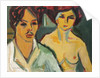 Self Portrait with Model, 1905 by Ernst Ludwig Kirchner