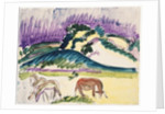 Cows in the Pasture by the Dunes, 1913 by Ernst Ludwig Kirchner