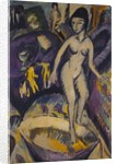 Female Nude with Hot Tub, 1912 by Ernst Ludwig Kirchner