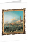 The Bucintoro at the Molo, Venice, on Ascension Day by Canaletto