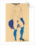 Standing woman with shoes and stockings, 1913 by Egon Schiele