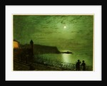 Scarborough by Moonlight from the steps of the Grand Hotel by John Atkinson Grimshaw