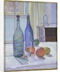Blue and Green Bottles and Oranges by Spencer Frederick Gore