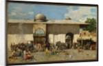 Oriental Market, 1884 by Alberto Pasini