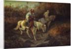 Arab Horsemen at the edge of a Wood by Adolf Schreyer