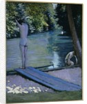 Bather about to plunge into the River Lyerres by Gustave Caillebotte