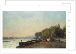 On the Bridge at Suresnes in Autumn by Albert-Charles Lebourg