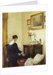 A Mother and a Child in an Interior by Carl Holsoe