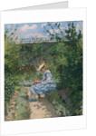 Jeanne in the Garden, Pontoise, c.1872 by Camille Pissarro