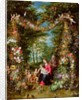 The Virgin and Child with the infant Saint John the Baptist, Saint Anne and angels, surrounded by a garland of flowers and fruit by Jan & Balen Hendrik van (1575-1632) Brueghel