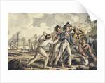 Captain Burney Discovering His Murdered Shipmates by Isaac Robert Cruikshank
