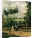 The Courtyard at Louveciennes by Camille Pissarro