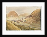 Corn Stooks and Farmsteads - Hill Farm, Capel-yffin, Wales, 1938 by Eric Ravilious