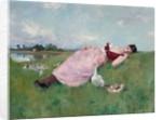 The Goose Girl by Albert-Emile Artigue