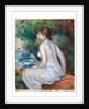 Bather sitting, 1890 by Pierre Auguste Renoir