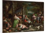 The Supper at Emmaus by Jacopo & Bassano Francesco Bassano