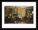 Room with Three Lamps, Rue St. Florentin by Edouard Vuillard