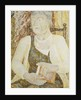 Portrait of Mrs Ody holding a Book by Jessica Stewart Dismorr