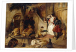 A Courtyard in the Olden Time by Edwin Landseer