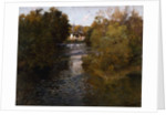 A French River Landscape by Fritz Thaulow