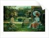 In the Plesaunce, Knostrop Hall, Leeds, 1875 by John Atkinson Grimshaw