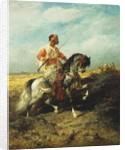 An Arab horseman by Adolf Schreyer