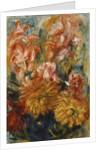 Gladioli in a Blue Vase; Glaieuls dans un Vase Bleu by Pierre Auguste Renoir