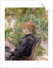 Redheaded Woman Sitting in the Garden of Mr, 1889 by Henri de Toulouse-Lautrec