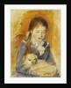 Girl with Dog by Pierre Auguste Renoir