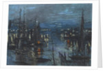 The Port of Le Havre, Night Effect by Claude Monet