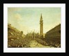 The Piazza San Marco, on the Doge's Coronation Day by Francesco Guardi