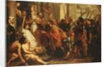 Saint Ambrose, Bishop of Milan, Refusing Emperor Theodosius Admission to Milan Cathedral by Theodor Boeyermans