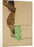Reclining Male Nude with Green Cloth by Egon Schiele