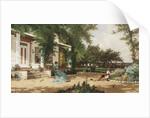 In My Neighbours Garden, 1883 by Alfred Thompson Bricher