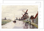 Windmill in Holland, 1871 by Claude Monet