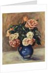 Roses in a Blue Vase, c.1900 by Pierre Auguste Renoir