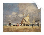 On the Pier, Deauville, 1889 by Eugene Louis Boudin