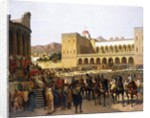 The Exit of Ruggero I, King of Sicily by Giuseppe Sciuti