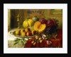 Still Life on a Table in an Interior by Henry Kokken