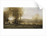 The Pond with Three Cows, c.1855-60 by Jean Baptiste Camille Corot