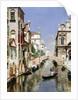 A Venetian Canal with the Scuola Grande di San Marco and Campo San Giovanni e Paolo, Venice by Rubens Santoro