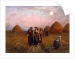 Dawn labour, 1900 by Jules Breton