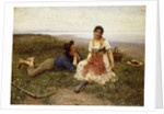Flirtation, 1887 by Eugen von Blaas