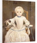 A Young Girl Seated by Christian Lindner