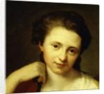 Portrait of Angelica Kauffmann, bust length by Anton von Maron