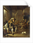 A Seated Cavalier with Soldiers playing Cards, 1655 by Jacob Duck