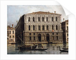 The Palazzo Pesaro from the Grand Canal, Venice by Canaletto